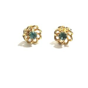 Jewelry - 10 Carat Gold Stud Floral Shaped Earrings